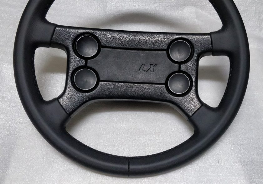 VW steering wheel GTI Golf 1 LX leather classic 321419660 Caddy Camper Polo Jetta