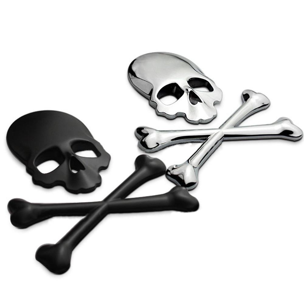 Skull Crossbones 3d Emblem Badge Adhesive 3m Car Bike