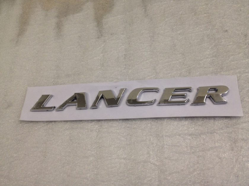 rear badge for Mitsubishi Lancer