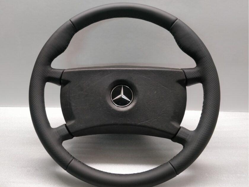 mercedes steering wheel 1264640017 R107 W124 W126 W123 SL SLC + thumb rests New Leather