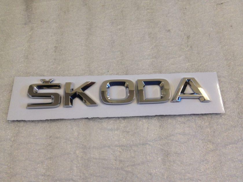 Skoda letters emblem Badge 155mm