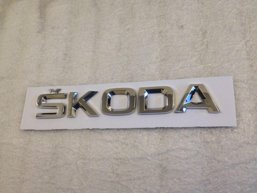 Skoda letters emblem Badge 155mm (4)
