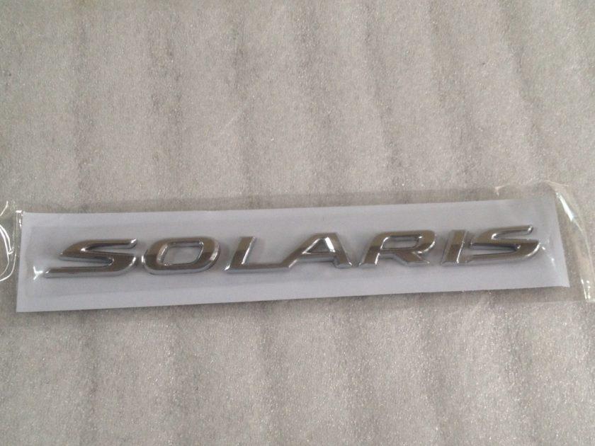 rear boot badge for Hyundai Solaris 2011+