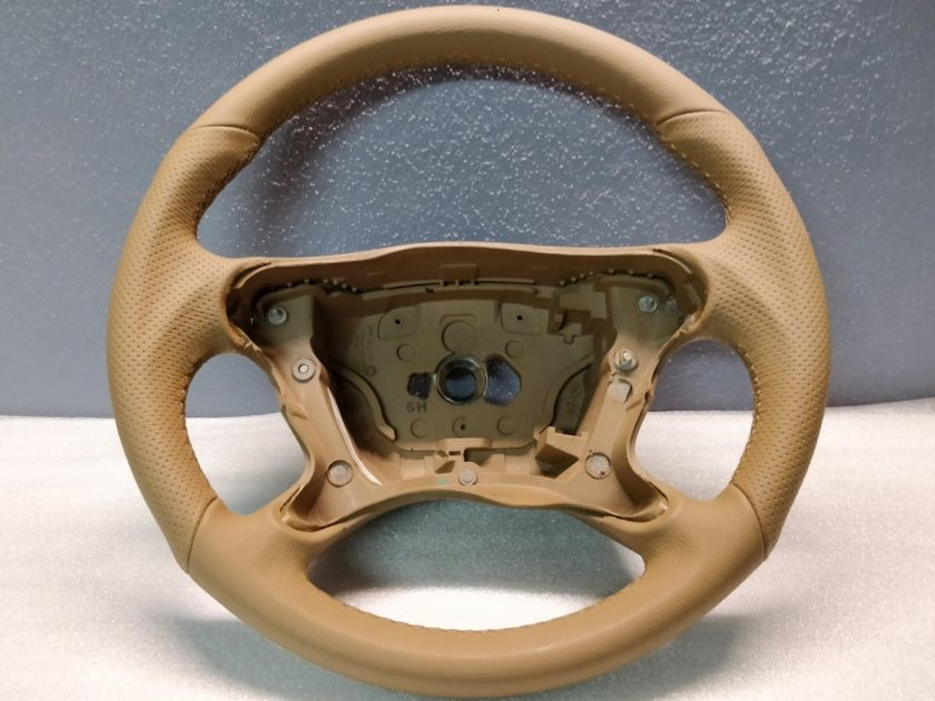 Mercedes AMG steering wheel W209 W211 3062148 SL R230 Leather New Tan Brown CLS