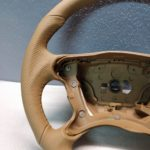 Mercedes AMG steering wheel W209 W211 3062148 SL R230 Leather New Tan Brown CLS