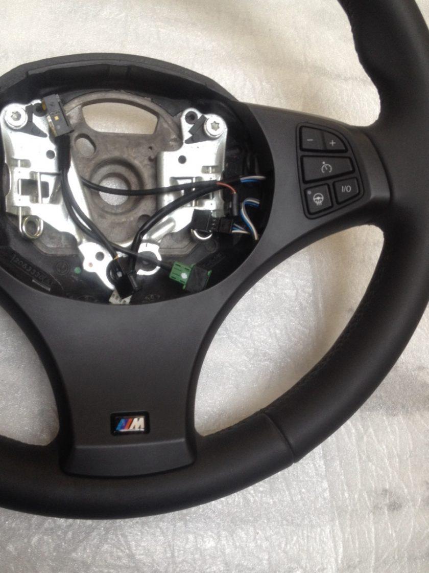 BMW E53 X5 E83 X3 M-SPORT STEERING WHEEL BLACK NAPPA LEATHER