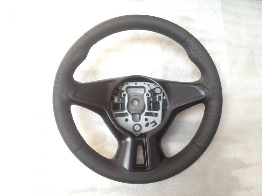 Opel Adam steering wheel black perforated leather customOpel Adam steering wheel black perforated leather custom