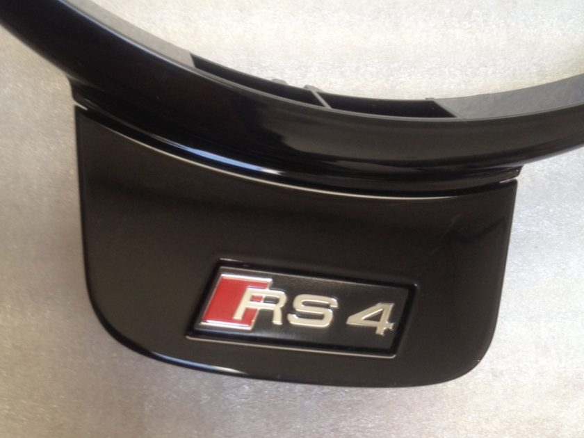 Audi RS4 A4 steering wheel insert trim