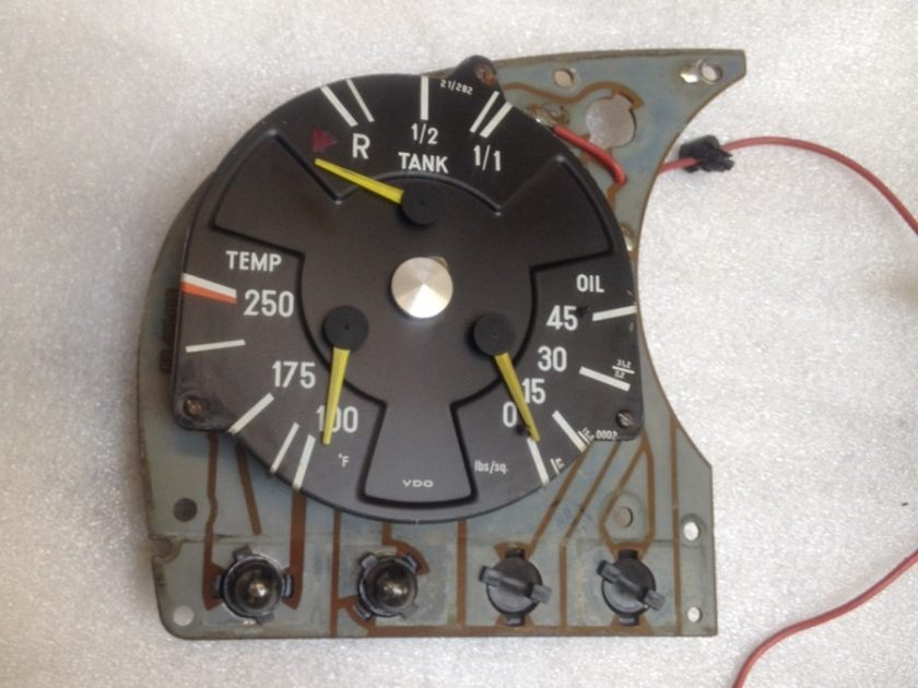 mercedes 107 Sl SLC Gauge temperature oil pressure fuel gauge clock VDO 21/282