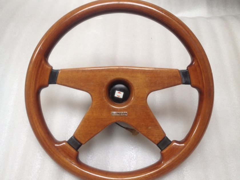 Victor steering wheel wood Mercedes R107 SL SLC W123 W126 SEC 355mm Classic Rare