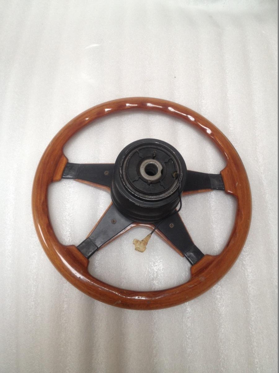 Victor steering wheel wood Mercedes R107 SL SLC W123 W126 SEC 355mm Classic Rare