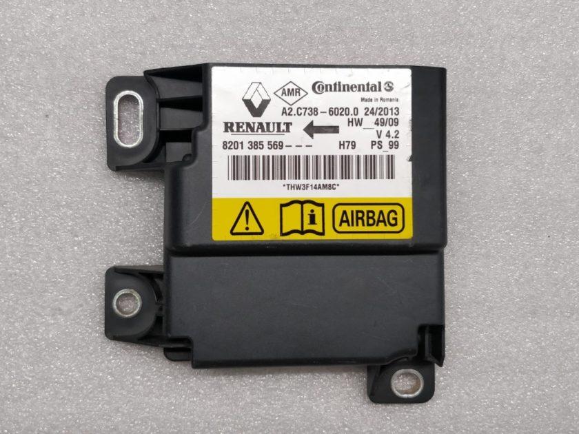 srs ecu DACIA DUSTER 8201385569 A2.C738-60020 airbag module