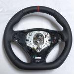 BMW e90 e91 e92 e93 3 Series Leather Steering Wheel Flat Custom E87 E88