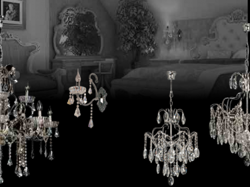 crystal chandelier dark smoked crystals