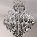 crystal chandelier dark smoked crystals