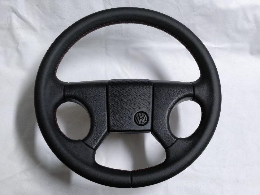 Steering Wheel VW Corrado Golf I II Jetta red stitch 321419660 191419091AK