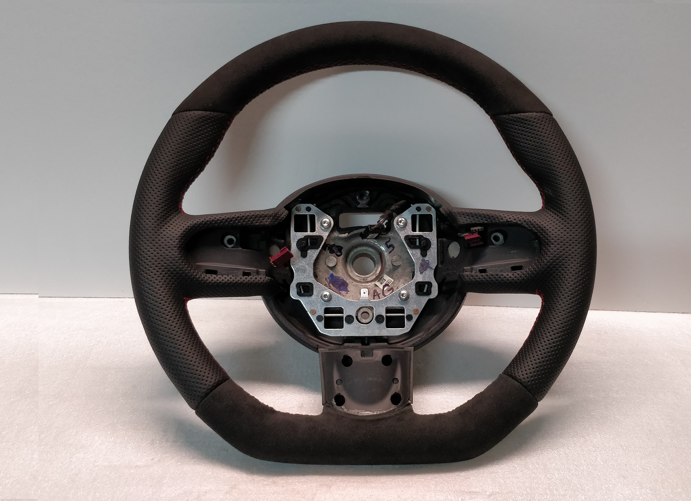 Mini Steering Wheel R55 R56 R57 R60 Flat Botom Custom Red Sch 2751499 2751500
