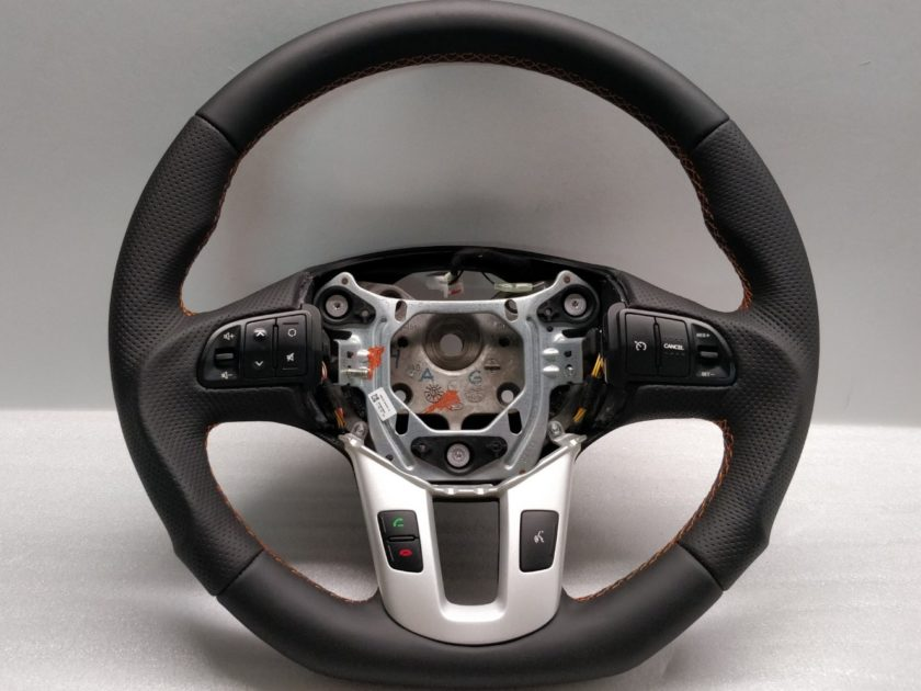 Kia Sportage steering wheel Flat Bottom Custom Orange Stitch 56110-3U751 EQ