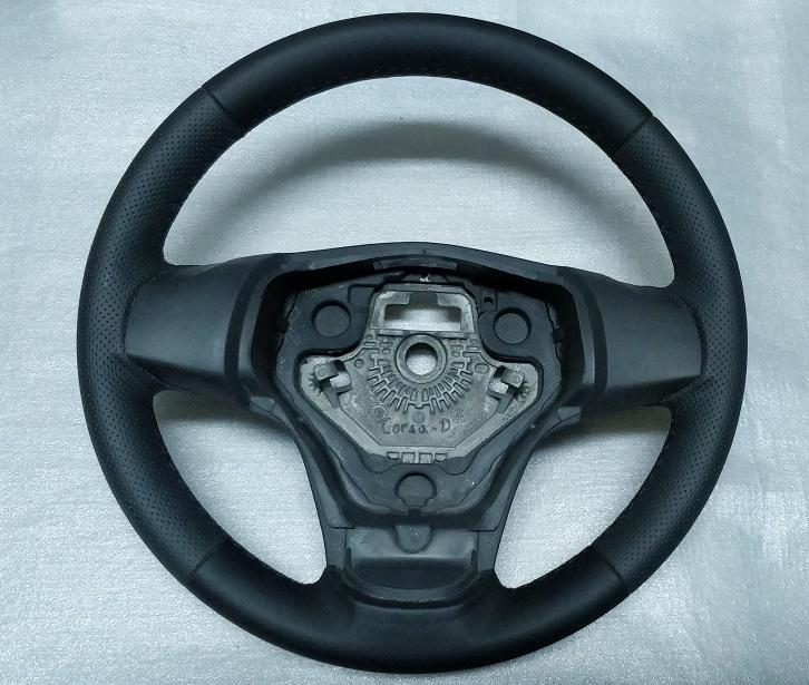 Steering wheel opel corsa D 13155558 leather 2006-2014