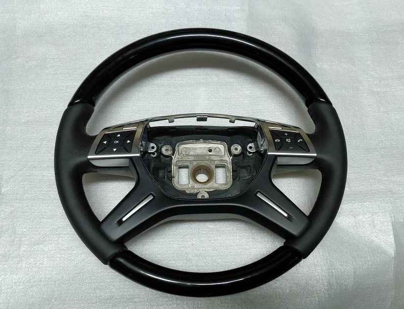 Mercedes steering wheel dark wood + leather W166 X166 GL GLE ML 1664601703