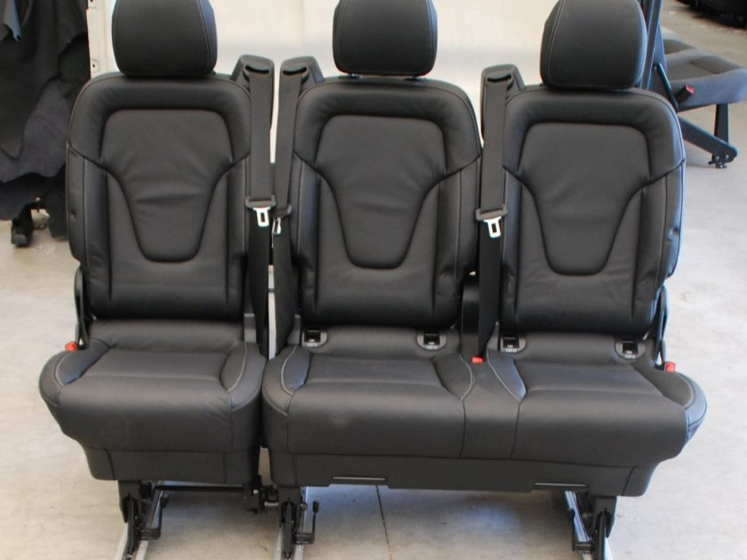 Mercedes Vito rear seats 447 V-class 2+1 leather bench