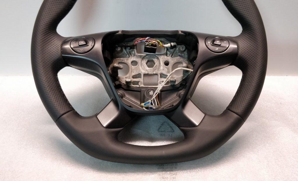 Ford Trnaist Custom steering wheel flat bottom New leather BK21-3600 mk8