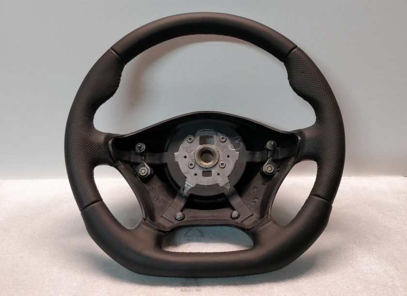 Vito W639 steering wheel leather custom flat bottom A6394640001 2003-2010 thumb rests