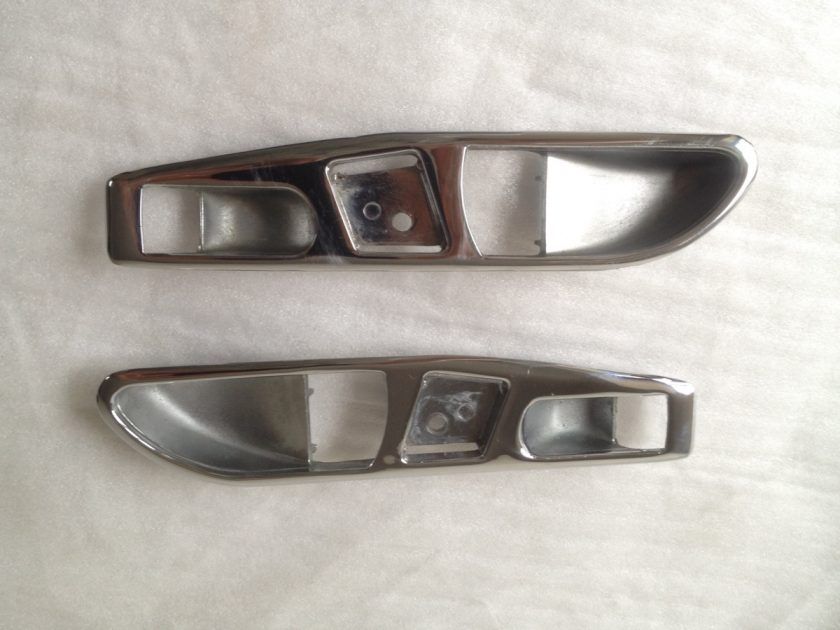 Mercedes R107 SL SLC handle surround chromes Pair
