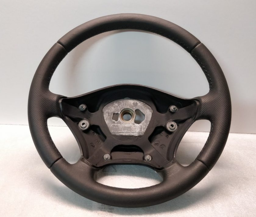 Mercedes Sprinter 906 VW Crafter steering wheel Black new leather black stitch perforated