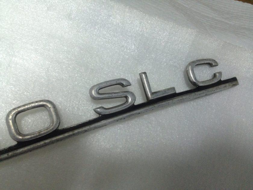 Mercedes 107 380 SLC badge emblem boot rear C107