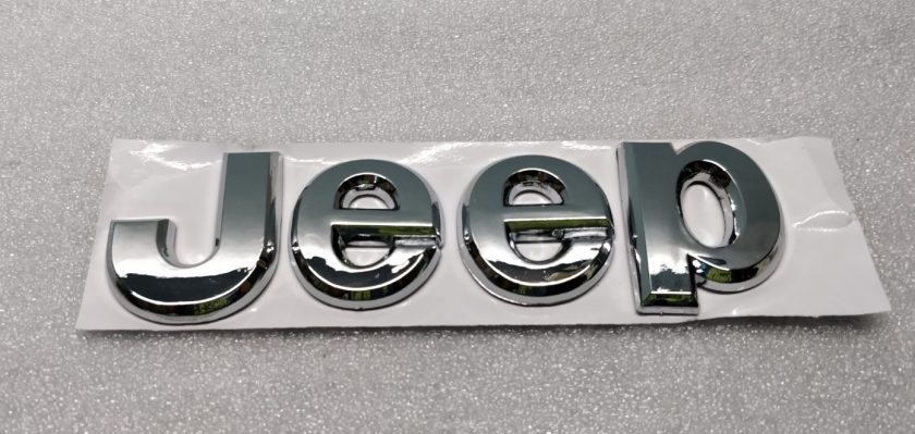 Jeep chrome letters badge self-adhesive Compass Cherokee Wrangles