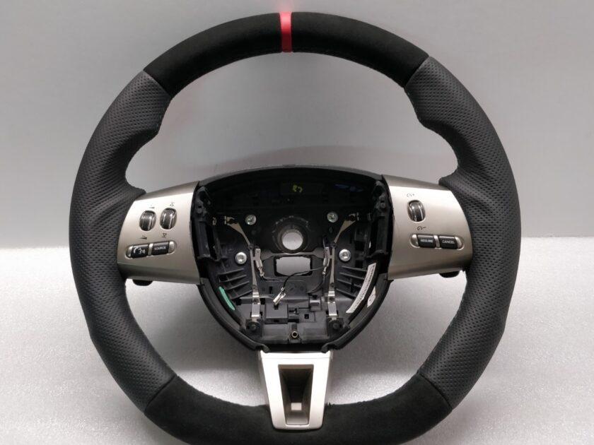 Jaguar XF steering wheel 2008-2011 8X23CCLEG Flat alcantara