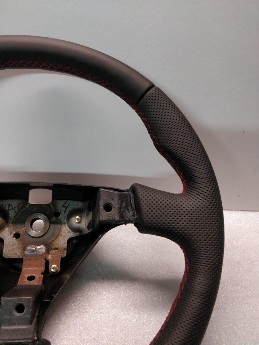 Mazda RX7 Steering wheel custom flat bottom Red Stitch FD3S