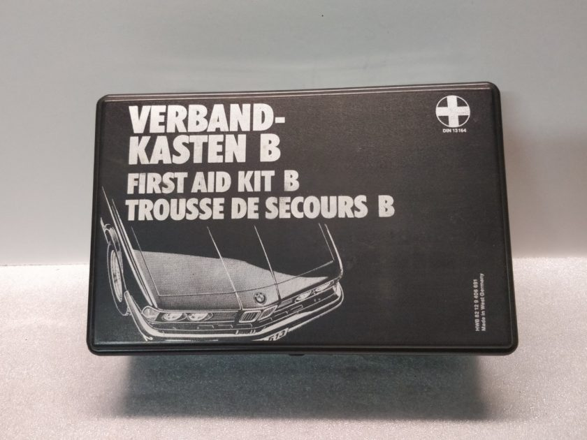BMW E30 E24 RARE FIRST AID KIT BOX VERBAND KASTEN B