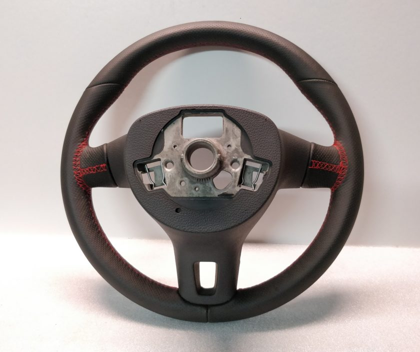 VW Transporter T5 T6 steering wheel red stitch new leather 7E0419091 G Scirocco Golf 6