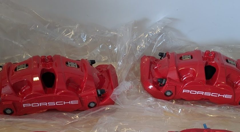 Porsche 718 982 brake caliper front Brembo red 982615105