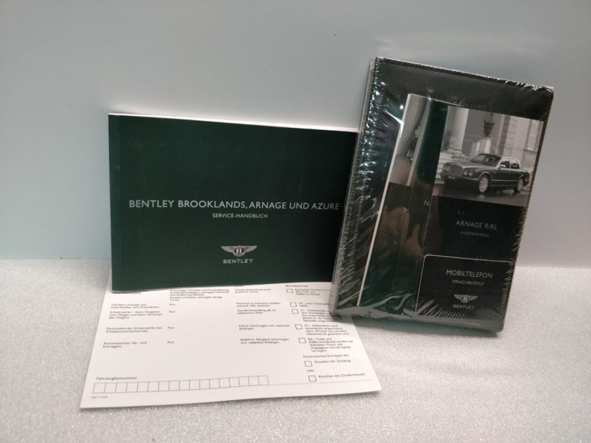 Bentley Arnage R RL Azure Handbook Manuals German Handbuch