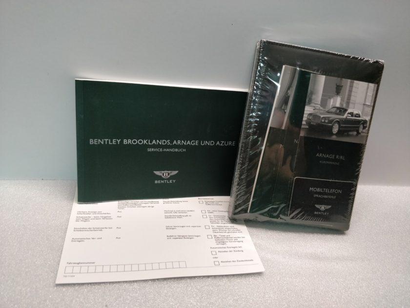 Bentley Arnage R RL Azure Handbook Manuals German Handbuch
