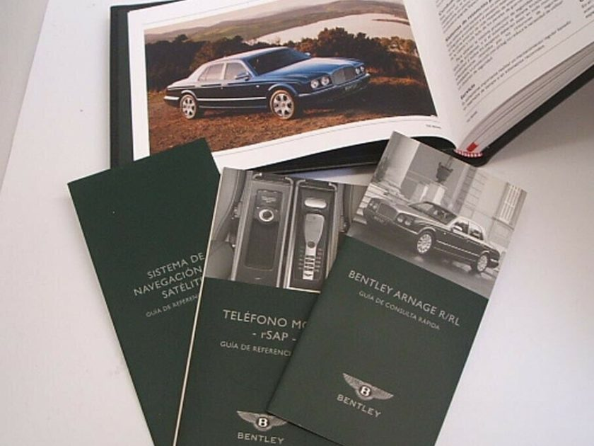 Bentley Arnage Azure Handbook Manuals Spanish