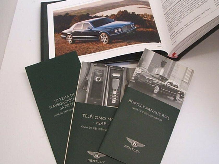 Bentley Arnage Azure Handbook Manuals Spanish