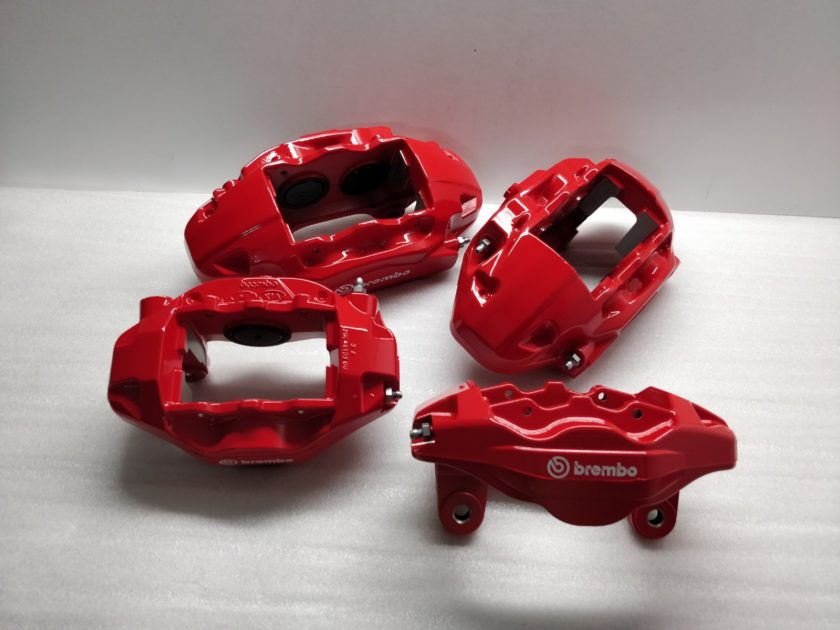 Hyundai Genesis Brake calipers 58130-J5550-BCR Brembo Red Kia Stinger 58210-J5550