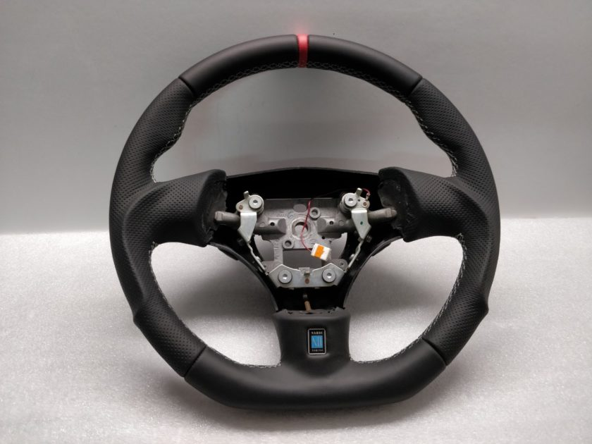 Mazda RX7 Steering wheel custom flat bottom Red Band FD3S