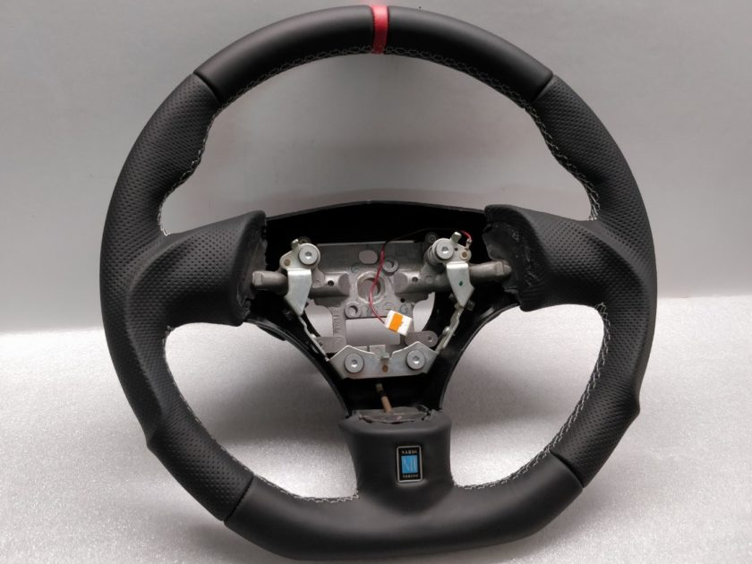 Mazda RX7 Steering wheel custom flat bottom Red Band FD3S
