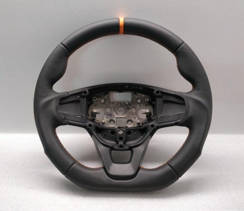 Transit Custom Sport steering wheel Flat New Leather Tuning Orane stitch