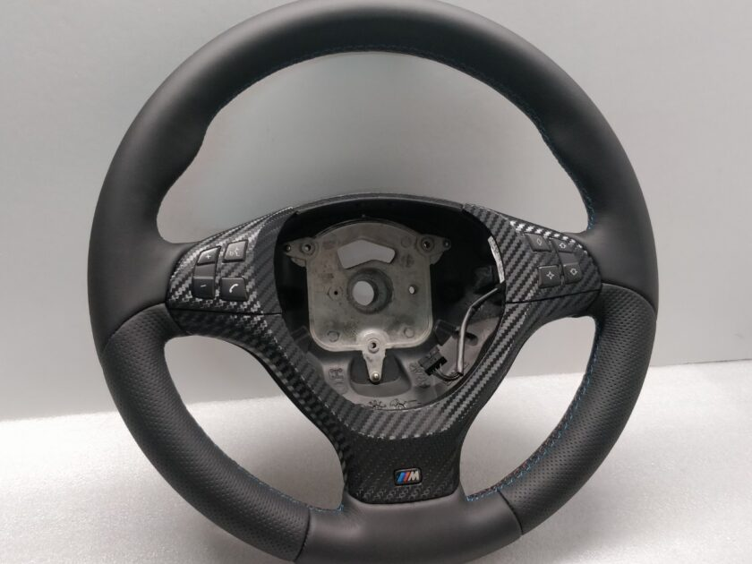 BMW E70 E71 X5 X6 M-SPORT STEERING WHEEL Thick New Leather Nappa 3062675 +Carbon