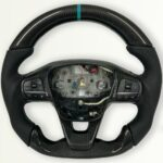 Transit Custom Carbon Steering wheel Sport, Flat Turquoise
