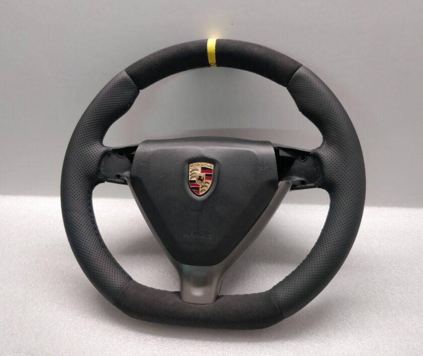 Porsche steering wheel 987 997 flat custom 997347804 04 alcantara 997.347.804.04
